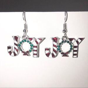 Christmas 🎄 JOY 🎄Candy Cane/ Wreath Earrings